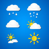 Vector Weather Icons — Stock Vector