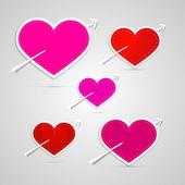Vector corazones — Vector de stock