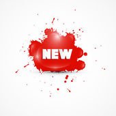 Red Stain With Title New — Vector de stock