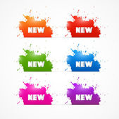 Set of Stains with Title New — Stock Vector