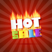 Hot Sale Title In Flames — Vector de stock