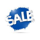 Blue Sale Icon — Stock Vector