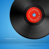 ビニール レコードのディスク — ストックベクタ