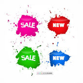 Colorful Sale Blots Icons — Stock Vector