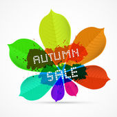 Autumn Sale Title — Stock Vector