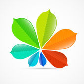 Colorful Chestnut Leaves — Stock Vector