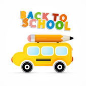 Powrót do tematu szkoły — Wektor stockowy