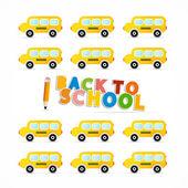 Vector Back to School Theme — Wektor stockowy
