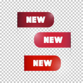 Red Labels With Title New — Vector de stock