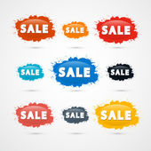 Colorful Sale Splashes — Stock Vector