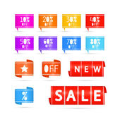 Colorful Vector Sale Icons — Stockvector