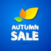 Autumn Sale Background — Stock Vector