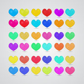 Colorful Vector Hearts — Stock Vector
