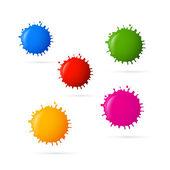 Colorful Vector Blots — Stock Vector