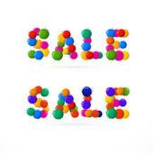 Vector Sale Titles — Stock Vector