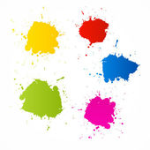 Colorful Vector Blots — Stock Vector