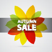 Autumn Sale Theme — Stock Vector