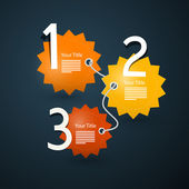 Paper Progress Steps for Tutorial — Stock Vector