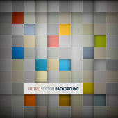 Retro Square Background — Vecteur