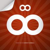 Vector Paper Infinity Symbol — Vector de stock