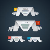 Paper Progress Steps for Tutorial — Stock Vector