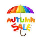 秋天出售标题用的伞 — 图库矢量图片