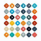 Arrow symbols and shapes set — Stock Vector