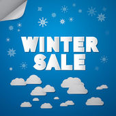Winter Sale Title — Vector de stock