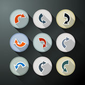 Arrows in Circles Set — Stockvektor