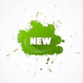Novo título no splash verde — Vetor de Stock