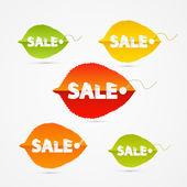 叶具销售标题 — 图库矢量图片