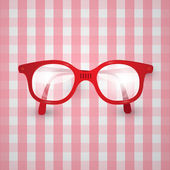 Old Glasses on Pink Tablecloth — Vetorial Stock