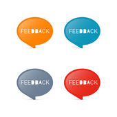 Vector Feedback Icons — Stock Vector