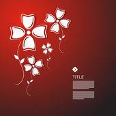 Abstracte rode achtergrond met glas vleugels — Vector de stock