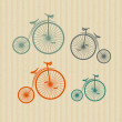 Old Vintage Bicycles — Stock Vector
