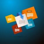 Infographics Blue Background — Cтоковый вектор