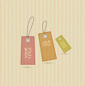Tags on Recycled Paper — Stock Vector