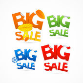 Colorful Big Sale Titles — Stock Vector