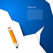 Dokument white paper s tužkou — Stock vektor