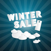Winter Sale Title — Stock vektor