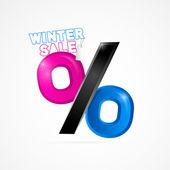 Kış satılık nesne — Stok Vektör