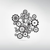 Gears Isolated on Grey Background — Stock Vector