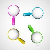 увеличительное стекло набор — Cтоковый вектор
