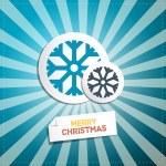 Retro Abstract Vector Merry Christmas Background — Stock Vector