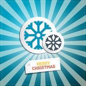 メリー クリスマスのレトロな抽象的なベクトルの背景 — ストックベクタ