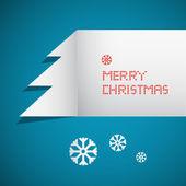 Retro Abstract Vector Merry Christmas Backgroun — Stock Vector