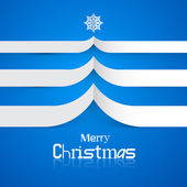 Blue Abstract Vector Merry Christmas Background — Stock Vector