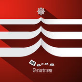 Red Abstract Vector Merry Christmas Background — Stock vektor