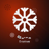 Red Abstract Vector Merry Christmas Background — Vetorial Stock