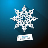 Blue Abstract Vector Merry Christmas Background — Vector de stock